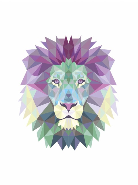 P44 Color Lion King Canvas Painting Wall Poster Decorative Wall Picture Home  Decor Frame Not Include