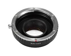 Focal Reducer Speed Booster Turbo Lens Adapter for Canon EF EOS Lens to m4/3 mft GF5 GF6 GX1 GX7 EM5 GH4 GH3 BMPCC