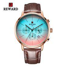 цена REWARD Military Sport Fashion Men Watch Top Quality Luxury Quartz Watches Clock Leather Band  Watch JD-RD83001M онлайн в 2017 году