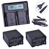 2 шт. BP U60 BPU60 BP U60 Перезаряжаемые Li Ion 5200 мАч Батарея + ЖК дисплей Быстрый Зарядное устройство для sony XDCAM EX PMW100 PMW150 PMW160 PMW200