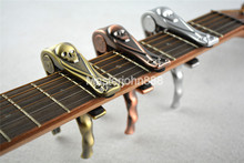 Alice Skull Capo Paint Metal Rubber Pad Acoustic Electric Guitar Key Clamp Change Clamshell Package