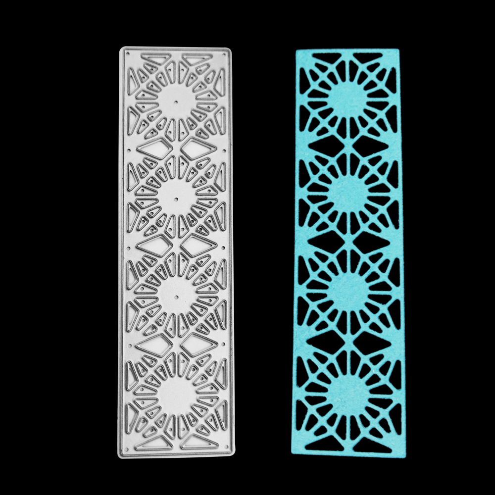 New 28*99mm Flower lattice Rectangle Metal cutting die frame craft embossing stencil for handmade Paper card making scrapbooking