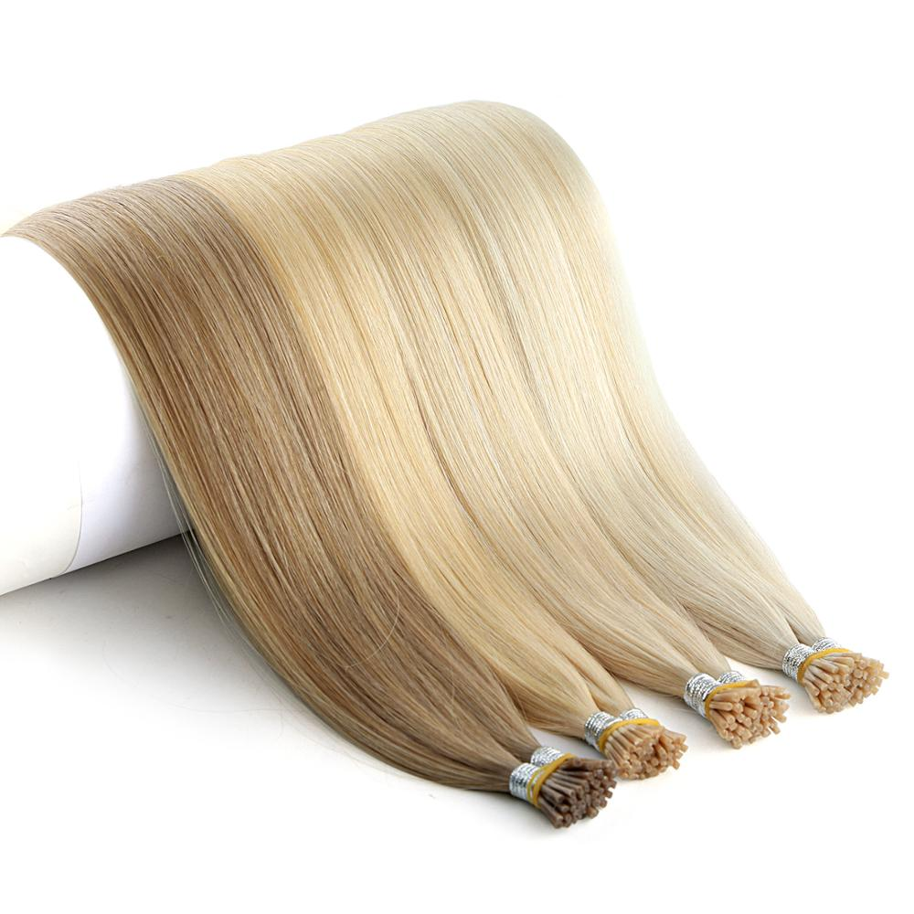 """Neitsi Double Drawn Remy I Tip Human Pre Bonded Fusion Hair Stick Tip Straight Keratin Human Hair Extensions 1.0g/s 20"""" 28"""" 25s"""