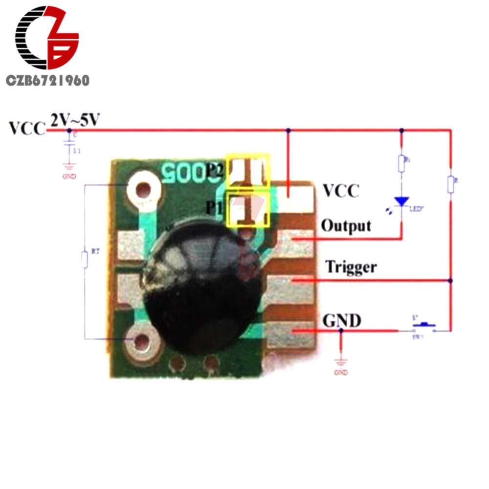 5pcs multifunction delay trigger chip time delay relay module ic timing 2s 1000h dc 5v  [ 1000 x 1000 Pixel ]
