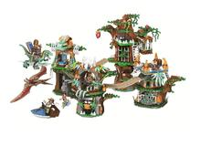 Classic Jurassic World Park Building Blocks Dinosaurs Primitive tribe Tree House DIY Bricks Toys For Children blocks toy loz mini kids blocks jurassic world building blocks lot huge dinosaurs jurassic park christmas toys for children