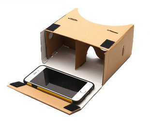 50pcs/lot DIY Google Cardboard Virtual Reality VR Mobile Phone 3D Viewing Glasses for 5.0