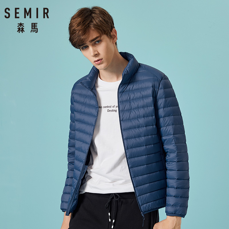 Image 3 - SEMIR 2019 Down Jacket Men Winter Portability Warm 90% White Duck Down Hooded Man Coat jaqueta masculino chaqueta hombre-in Down Jackets from Men's Clothing