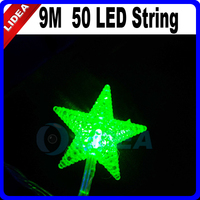 9M 50 LED Star Wedding Party Garden Holiday Navidad Decoration Outdoor Fairy String New Year LED Christmas Garland Light HK C-25