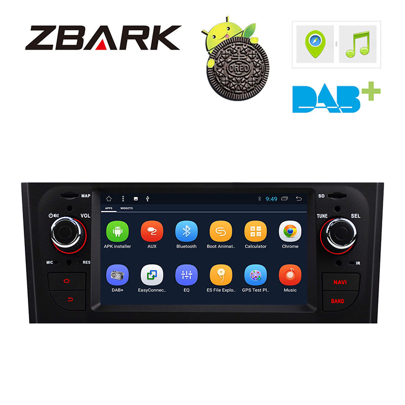 6.1 inch HD Digital Car Stereo GPS Android 8.1 for FIAT Grande Punto 199/310 2005 2009 Linea 323 2007 2011 YHTPD3L