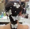 Взрыв модели красивые ручной работы ювелирные изделия свадебный головной убор шпилька бабочка волос расчёска вилка F2011