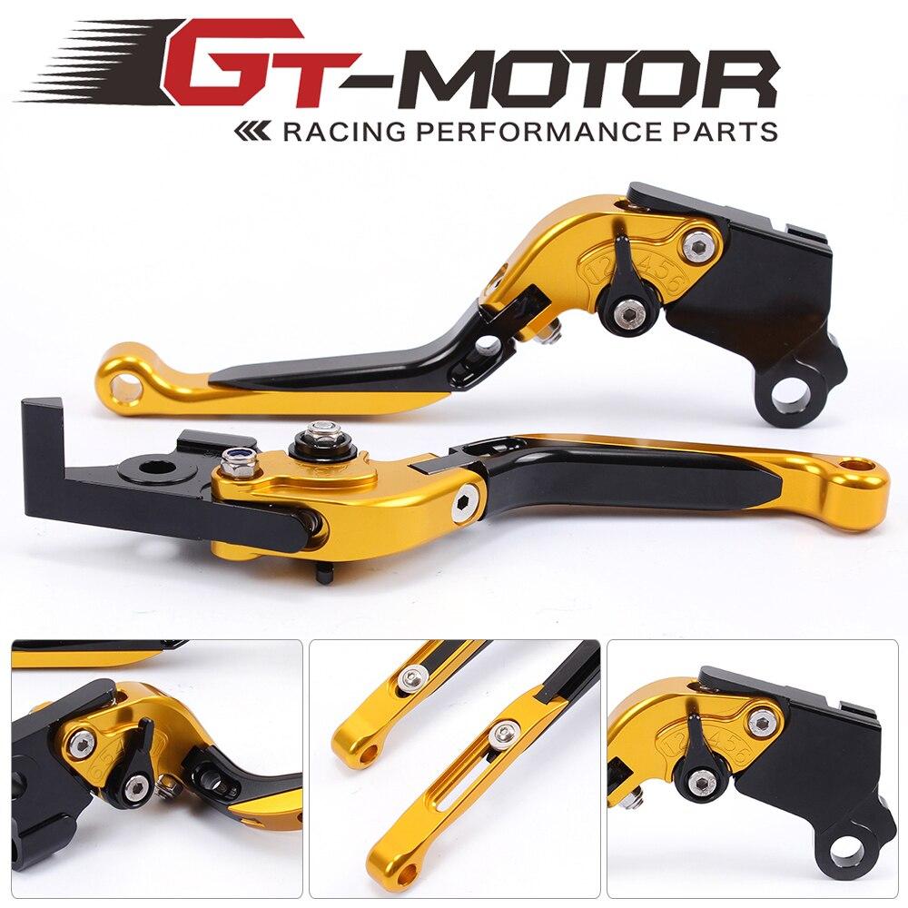 GT Motor - F-16/D-37 Adjustable CNC 3D Extendable Folding Brake Clutch Levers For MOTO GUZZI  BREVA 750 04-2009  V7 Racer 11-17 motoo f 16 dc 80 adjustable cnc 3d extendable folding brake clutch levers for moto guzzi breva norge 1200 gt8v 1200 sport