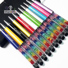 FREE LOGO rainbow crystal stylus pens custom imprinted with your logo/text/weburl/email  Special for company events items