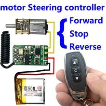 wireless remote control switch 433mhz rf transmitter receiver 3.7v 4.5v 9v 12v motor Forward Reverse steering Controller module