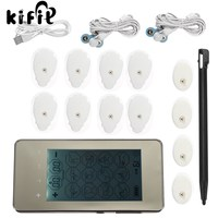 KIFIT Modern 12 Modes Electronic Muscle Stimulator Ems Acupuncture Therapy Machine Rechargeable Pain Comfortable Massager