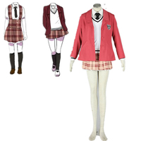 Anime Axis Powers Hetalia APH W Girls School Uniform Skirt Cosplay Costume