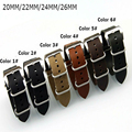 New Handmade 20MM / 22MM / 24MM / 26MM Crazy Horse Hide Leather Watch Strap,NATO Leather Watchbands
