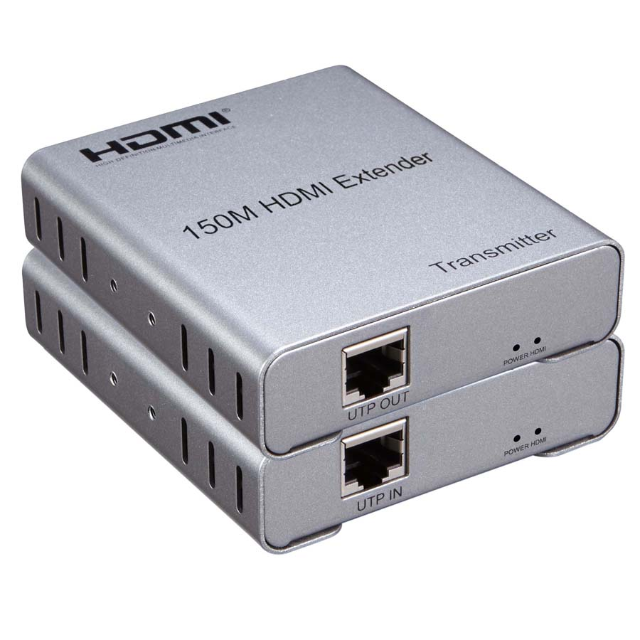 New HDMI Extender 150m over UTP CAT5e/6 Rj45 LAN Network Cable Support 1080p  Extension HDMI Transmitter Receiver best price new usb utp extender adapter over single rj45 ethernet cat5e 6 cable up to 150ft