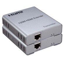 Новый HDMI удлинитель 150 м над UTP cat5e/6 RJ45 LAN Сетевой кабель Поддержка 1080 P Расширение hdmi передатчик приемник