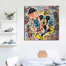 Alec Monopoly Known Artist Street Art Canvas Painting Living Room Home Decoration Modern Wall Oil Posters Pictures