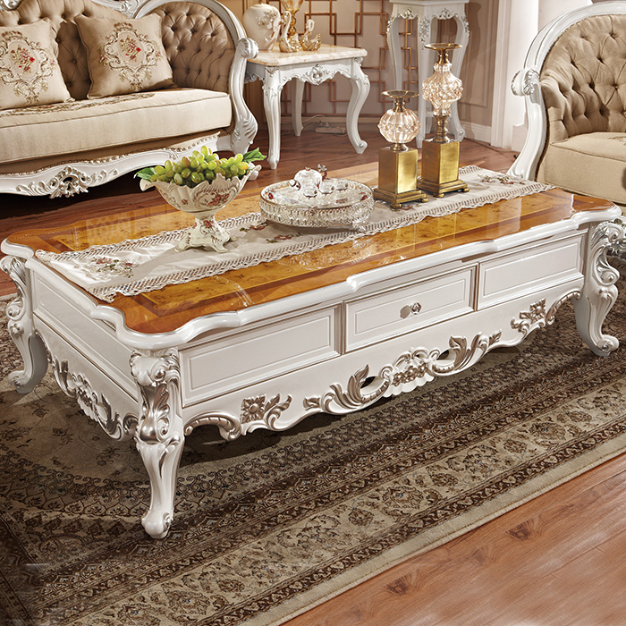Continental Coffee Table 1 58 Meters Pearl White Paint