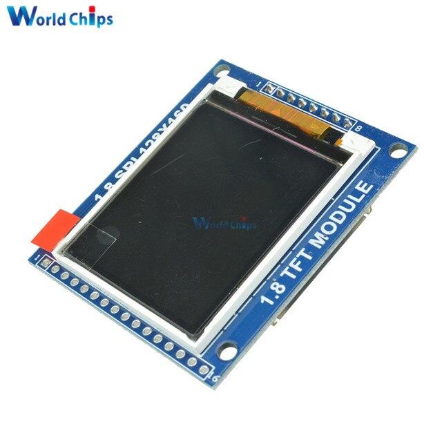 Mini 1.8 Inch Serial SPI TFT LCD Module Display with PCB Adapter IC 128x160 Dot Matrix 3.3V 5V IO Inerface Cmmpatible 1602 5110