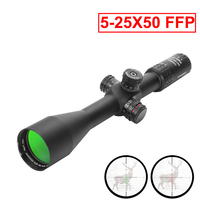 5 25x50 FFP Rifle Scopes Tactical Optical Waterproof Conquest 30mm Holographic Side Parallax Hunting Riflescopes Airsoft Sniper