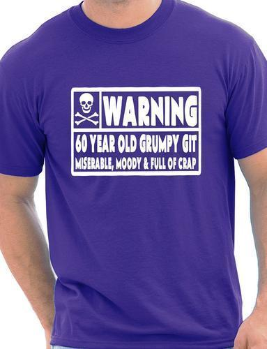 60 Year Old Git Mens Funny 60th Birthday Gift Fathers Day T Shirt