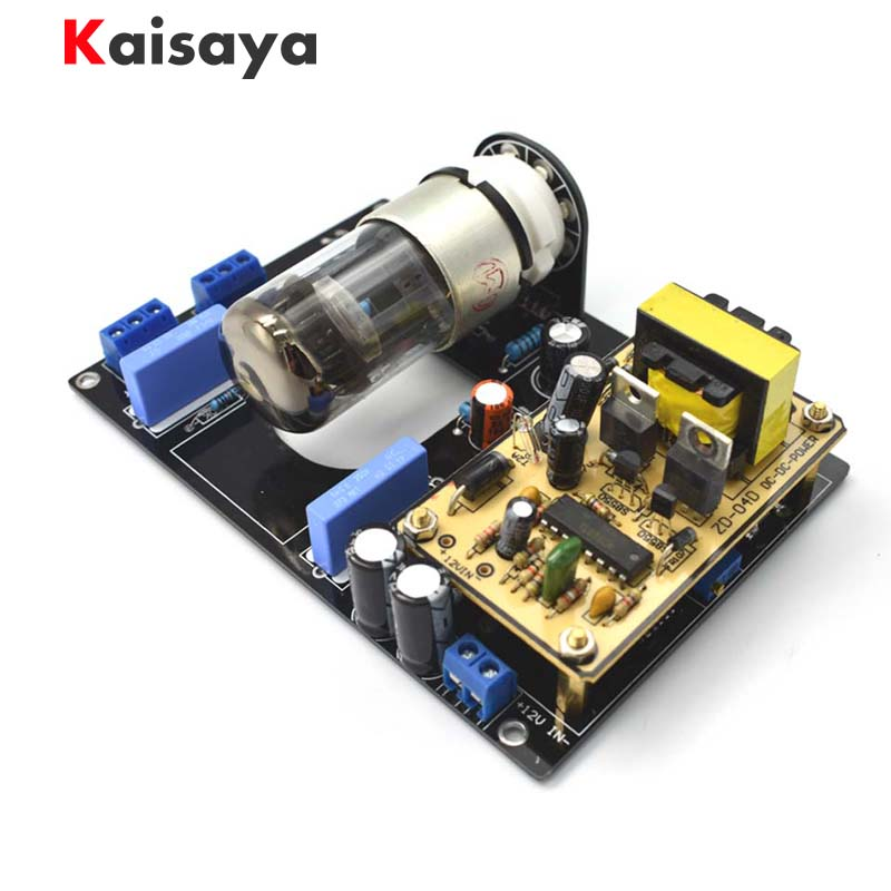 цена на new DC12V Car Audio 6N8P(6H8C 6SN7) Vacuum Tube Pre-Amplifier HiFi Preamp Board Free Shipping B1-005