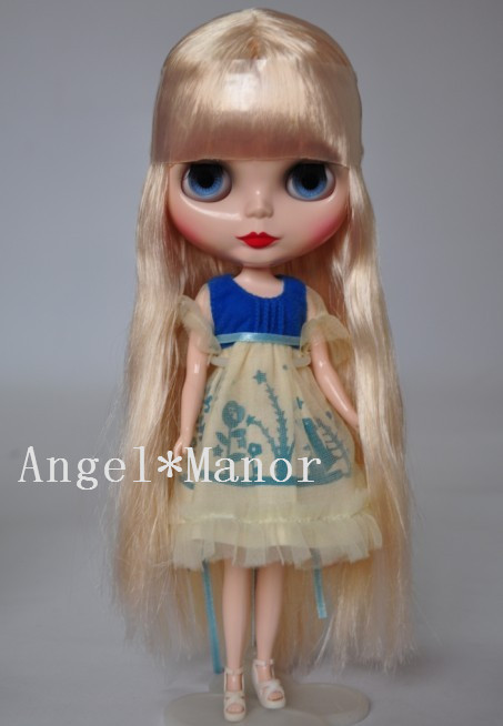 Nude Blyth Doll ,with gold  hair, Fashion doll Suitable For DIY Change BJD , For Girl's Gift,Free shipping,PJJ001 nude blyth doll with gold hair fashion doll suitable for diy change bjd for girl s gift free shipping pjj012