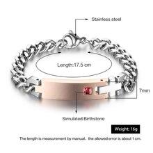 Personalized Birthstone Engrave Name Bracelet Lovers' Bracelets & Bangles Gift For Couple