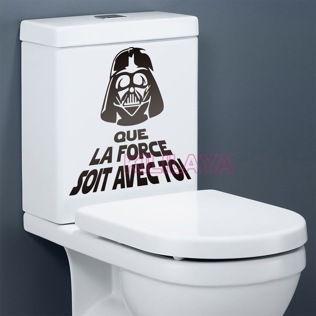 Drôle Toilettes WC Autocollants Vinyle Wall Sticker Star War ...