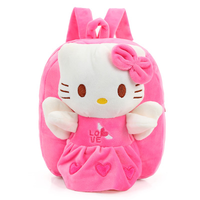 1PC 25cm Cartoon Small Hello Kitty Plush Doll Backpacks Students Shoulder Bag Satchel Girl Children Toy Gift Of Baby