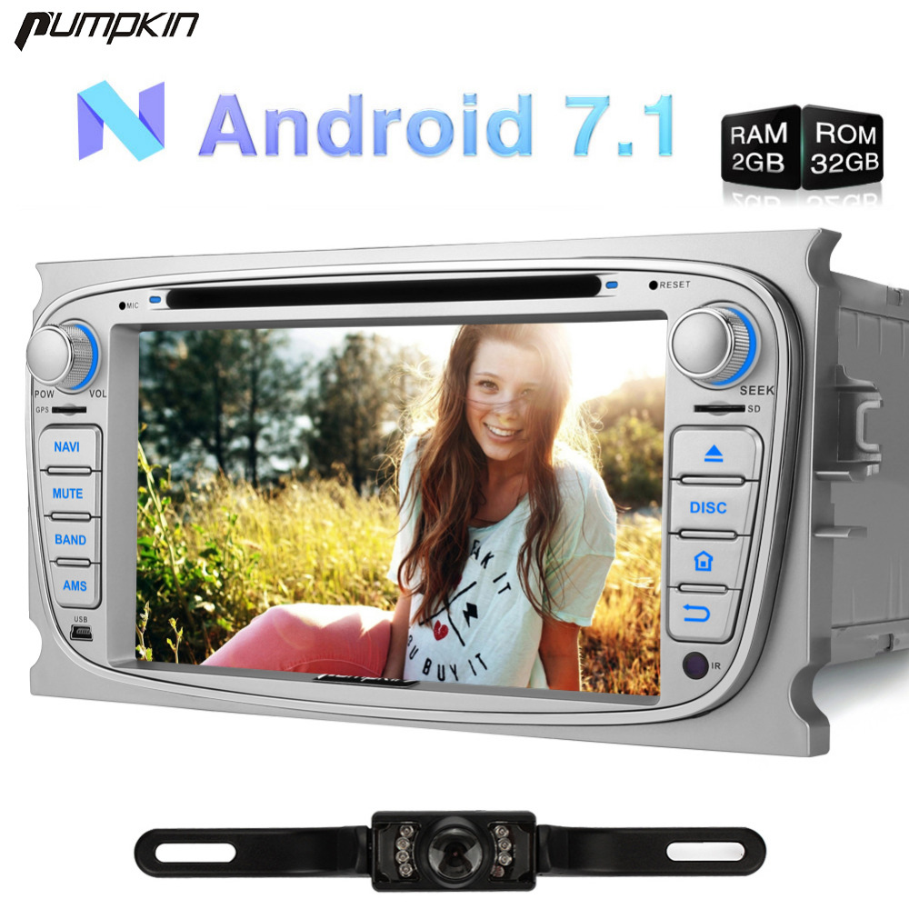 Pumpkin 2 Din 7 Inch Android 7 1 Car DVD Player For Ford Mondeo Focus Galaxy