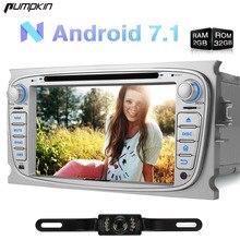 Kürbis 2 Din 7 Zoll Android 7.1 Auto DVD Player für Ford Mondeo/Focus/Galaxy GPS Navigation Autoradio FM Karten Bluetooth Radio