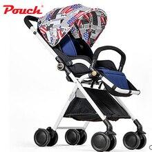 Child umbrella car pouch light baby stroller folding portable baby bb car