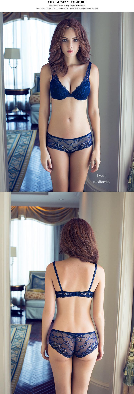 17 Women underwear bra suit Push Up Bra Set Sexy Deep v gather adjustment female lingerie Lace Bra and pants sets 75 B C Cup 4