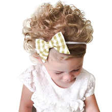 Hairband 1PC Baby Kids Head Accessories Hairband Baby Printed Bow Hairband Very cute for kids with High Quality Free Shipping 25(China)