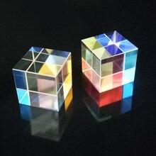 15*15*15 мм кубическая Призма обучающий оптический стеклянный тройной физический светильник