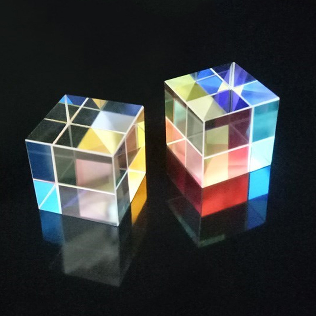 15*15*15MM Cube Prism Teaching Optical Glass Triple Physics Light Spectrum