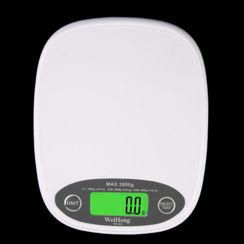 1 stück Weiße Dünne LCD Elektronische Küche 3Kg/0,5 Digitale Waage ...