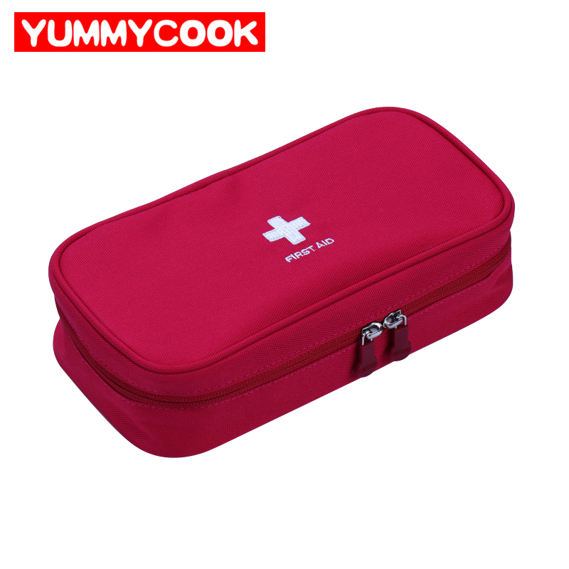 Travel Portable Empty First Aid Bag Medical Storage Home Office Outdoor Activity Emergency Survival Equipment Rescue Case Pouch