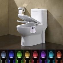 Smart PIR Motion Sensor Toilet Seat Night Light 8 Colors Waterproof Luminaria LED Lamp Backlight For Toilet Bowl WC Nightlight