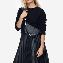 2019 New Fashion Crossbody Bags For Women Semi-Circle Pu Leather Wide Shoulder Strap Shell Bags Luxury Handbags Messenger Bag