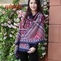 Marca de moda Bufandas de Cachemira Chales Estolas De Lana de Las Mujeres Abrigo de Invierno Cálido 190*60 cm Plaid Pashmina Pañuelo Hijab envío Gratis