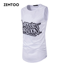 Fashion Men Summer Hip Hop Long Tank Tops Men's Casual Tee Tops Vest Fashion Sleeveless Cotton Men's 3D Printed Tanks ZM0164