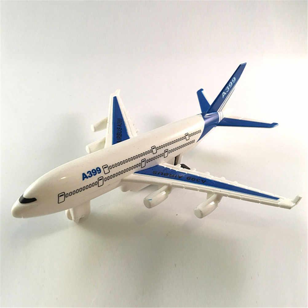 Modelo de autobús aéreo modelo de pasajeros niños Fashing avión de pasajeros Avión de juguete 15,5 cm X 14,5 cm X 5,2 cm