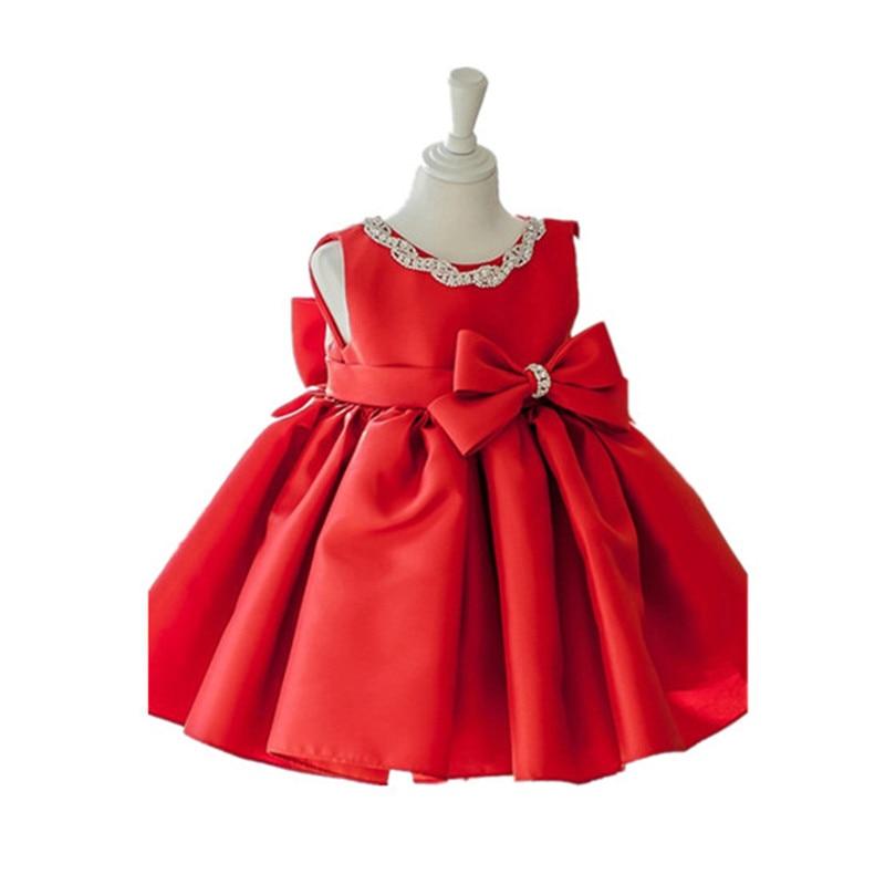 BBWOWLIN Red Baby Girl Flower Girl Dress 1 Year Birthday Vestido Infantil Costume for 0-2T Little Girls Formal Dresses 9066 вечернее платье mermaid dress vestido noiva 2015 w006 elie saab evening dress