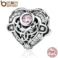 BAMOER 925 Sterling Silver Shopping Opulent Heart, Orchid & Clear CZ Charms Fit  Bracelet Jewelry Accessories PAS397
