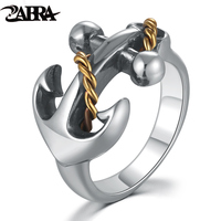 Skills Old Silversmith 925 Silver Anchor Ring Fashion Silver Ring Men S And Women S Index