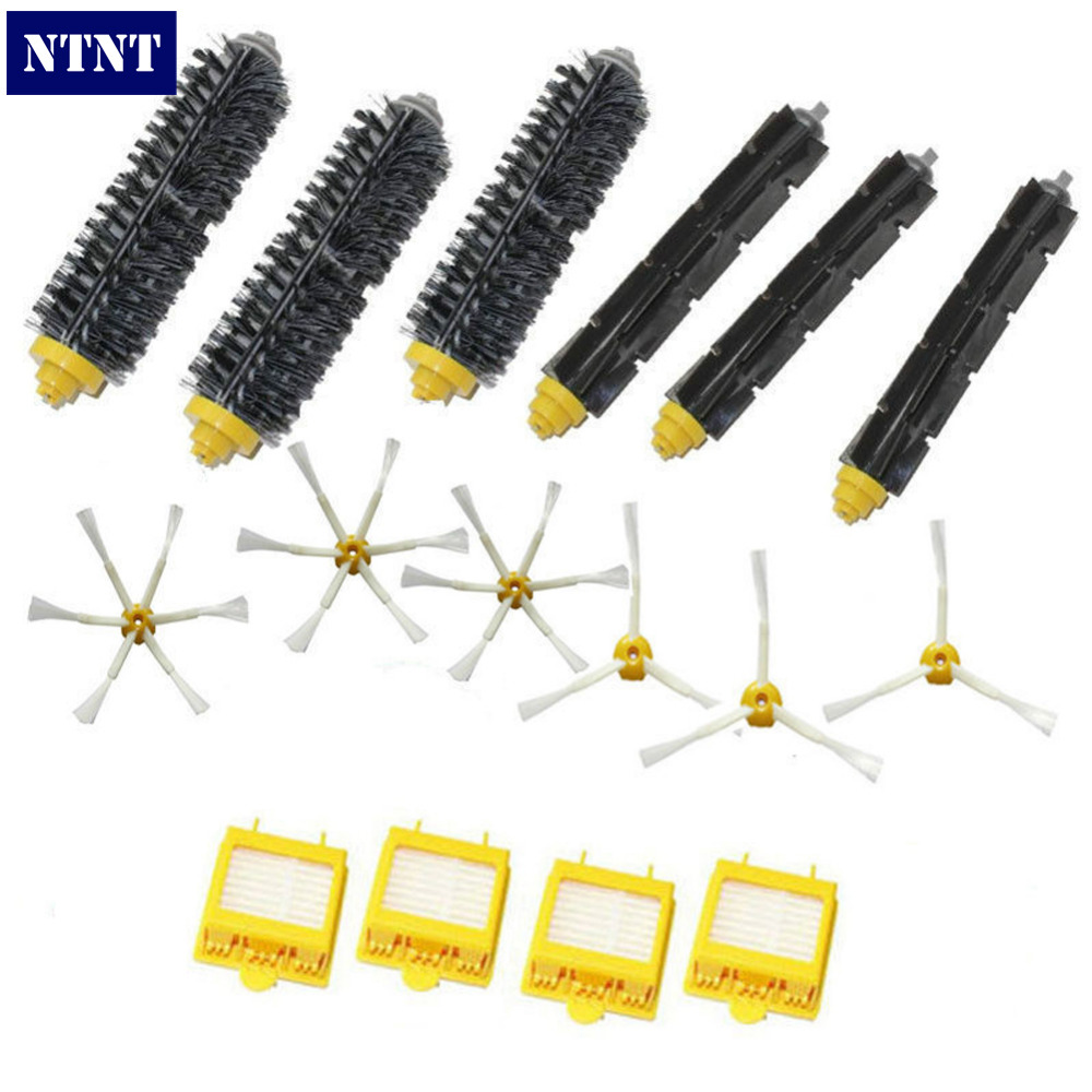 NTNT Free Post new For iRobot Roomba 3x Brush 3 6 armed & Hepa Filters 700 Series 760 770 780 Clean new replace brush filter 3 armed kit for irobot roomba 700 series 760 770 780